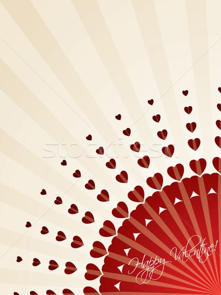 Bursting hearts greeting card  Stock photo © vipervxw