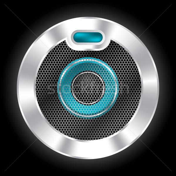 Cool metallic speaker with hexagon mesh Stock photo © vipervxw