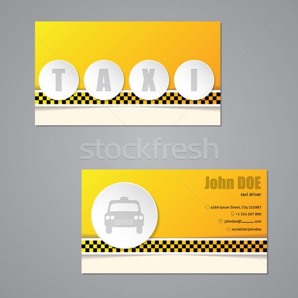 Taxi Visitenkarte 3d Tasten Vorlage Design