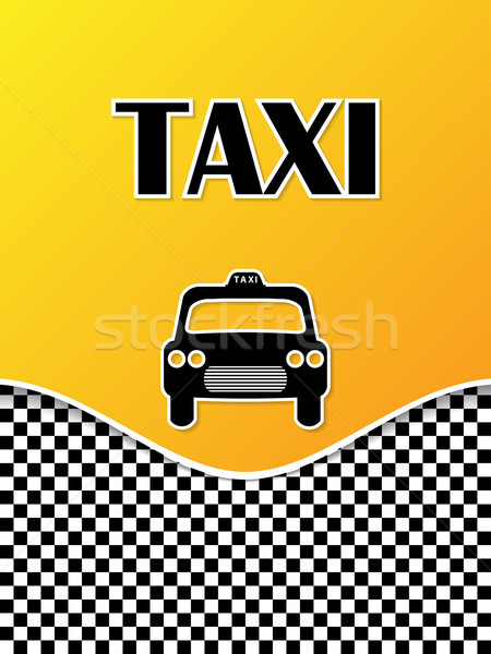 Taxi brochure design with cab silhouette Stock photo © vipervxw
