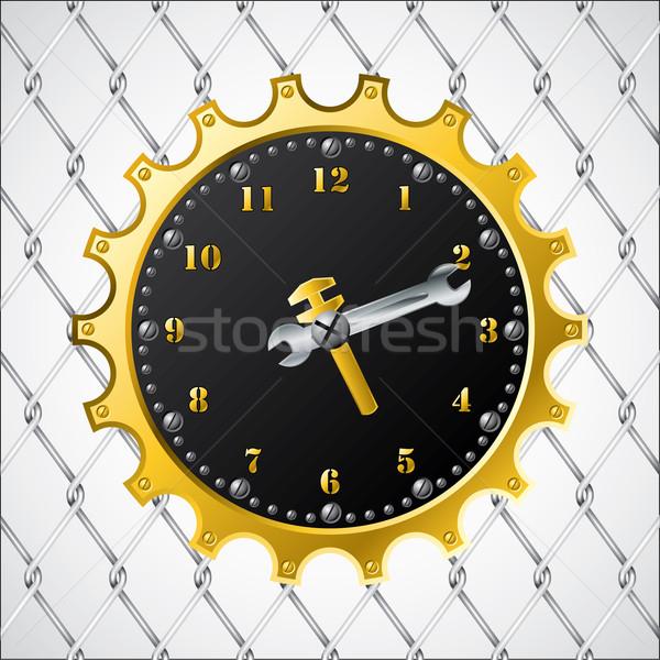 Industrial design clock Stock photo © vipervxw
