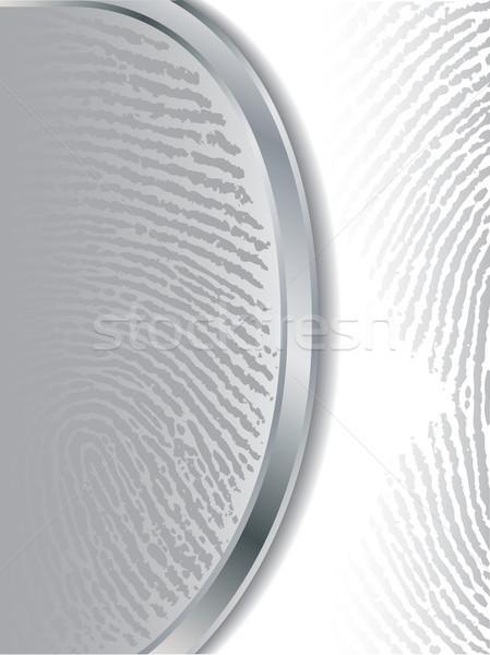 Fading gray fingerprints  Stock photo © vipervxw