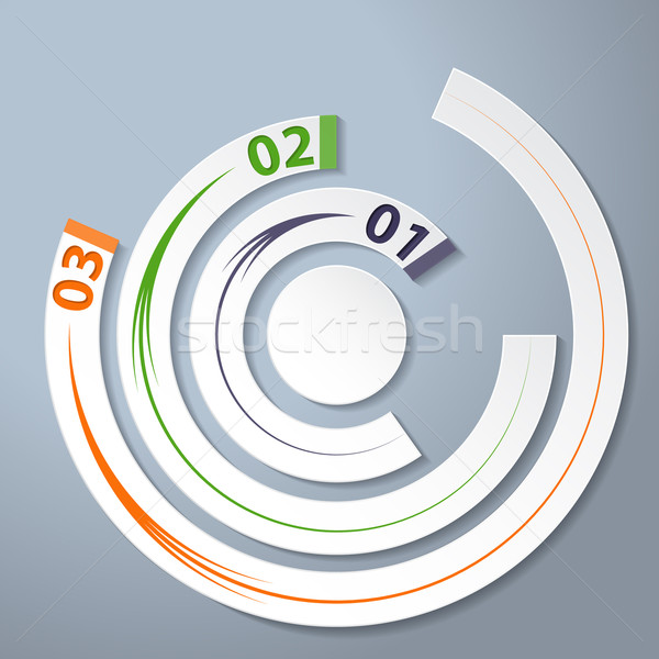 Infographic with numbers, arrows and options Stock photo © vipervxw
