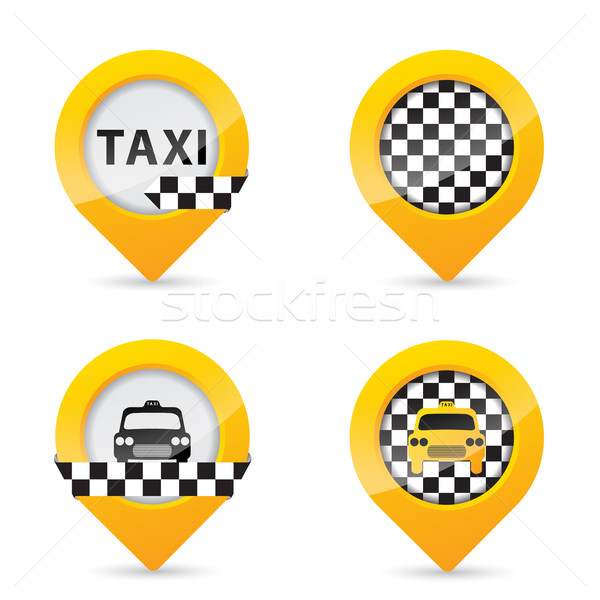 Gps pointers with taxi specific elements Stock photo © vipervxw