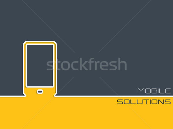 Mobile communication background design  Stock photo © vipervxw