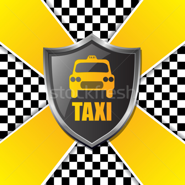 Abstract taxi ontwerp schild donkere Stockfoto © vipervxw