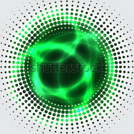 Yeşil plazma soyut yarım ton etki uzay Stok fotoğraf © vipervxw
