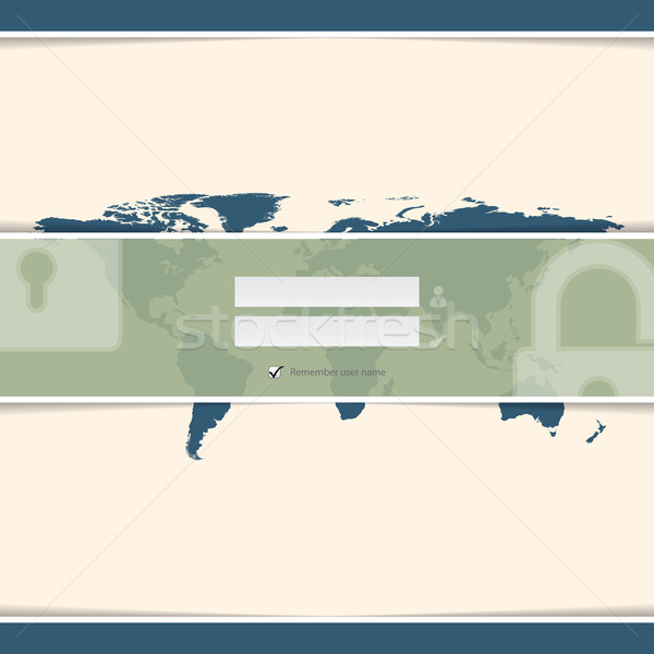 Classy login screen with world map Stock photo © vipervxw