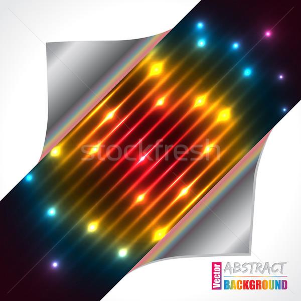 Streszczenie tęczy osoczu laserowe broszura projektu Zdjęcia stock © vipervxw