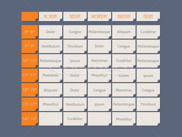 Oranje dienstregeling stijl monster tekst sjabloon Stockfoto © vipervxw