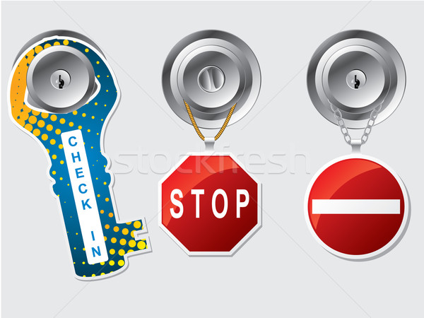 Do not disturb labels with rope and chains Stock photo © vipervxw