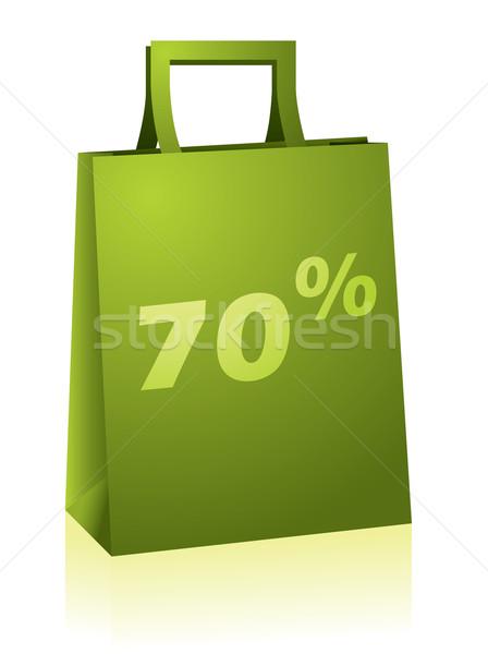 Green shopping bag Stock photo © vipervxw
