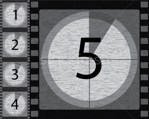 Black and white countdown Stock photo © vipervxw