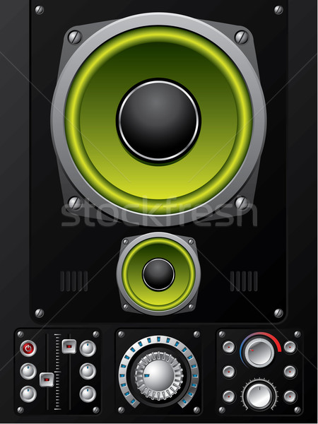 Hi-fi control deck Stock photo © vipervxw