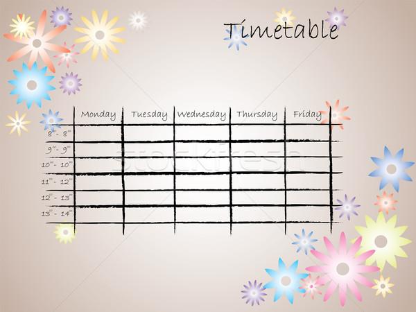 Kids timetable for school Stock photo © vipervxw