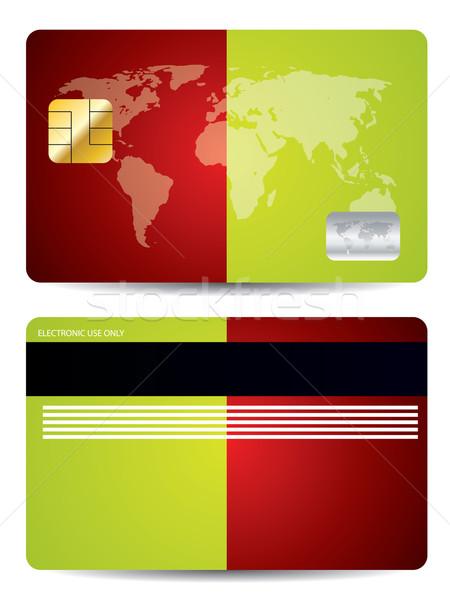 Bicolor background credit card  Stock photo © vipervxw