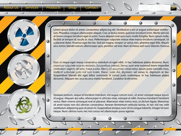 Bioveszély építkezés háló sablon ipari elemek Stock fotó © vipervxw