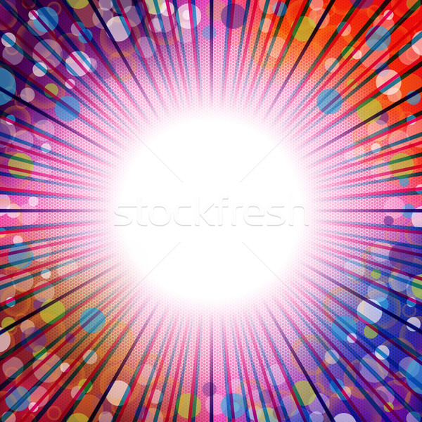 Bursting background design with dots and stripes Stock photo © vipervxw