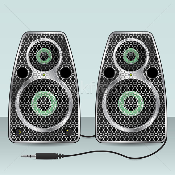 Hangfalak hatszög háló elöl hangszóró szett Stock fotó © vipervxw