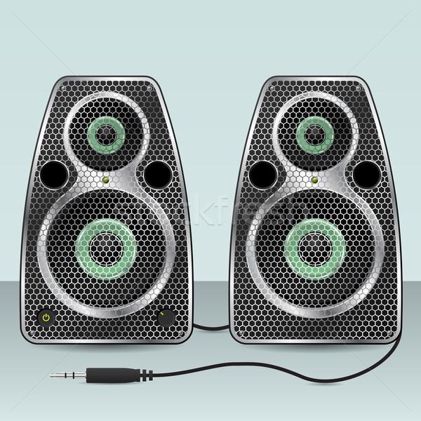 Speakers with hexagon mesh front Stock photo © vipervxw