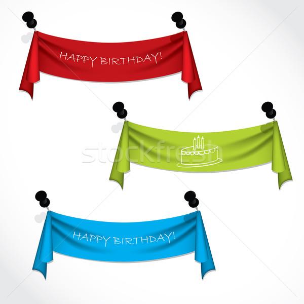 Joyeux anniversaire suspendu résumé peinture Photo stock © vipervxw