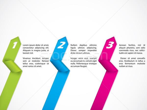 Stationary ribbon design set Stock photo © vipervxw