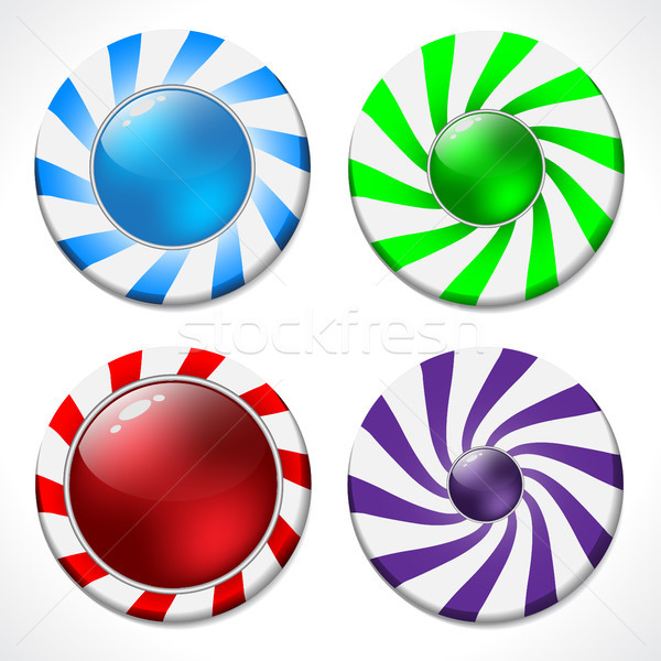 Swirling button design set  Stock photo © vipervxw