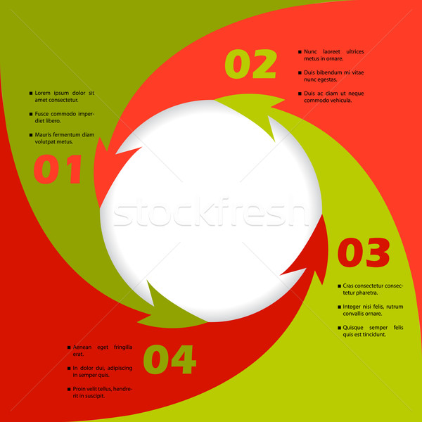 Circling arrows inforgraphic design Stock photo © vipervxw