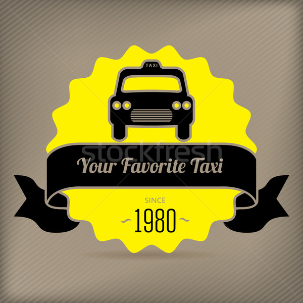 Taxi badge for company promotions Stock photo © vipervxw