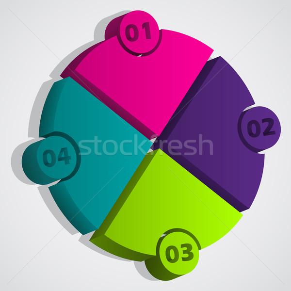 3d diagram with bubble grades Stock photo © vipervxw
