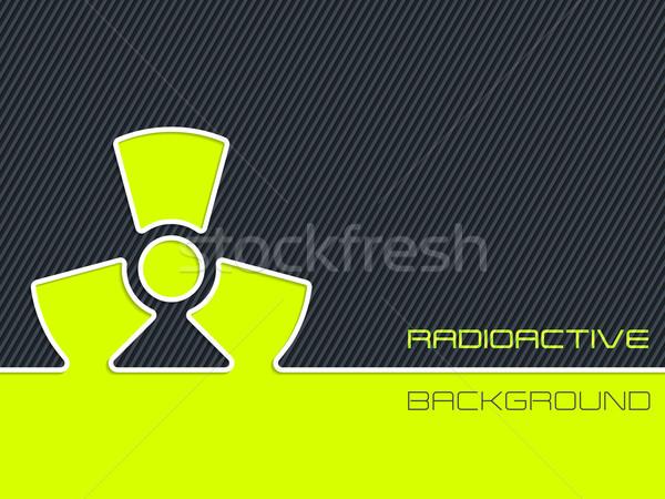 放射性 警告 縞模様の 抽象的な デザイン 業界 ストックフォト © vipervxw