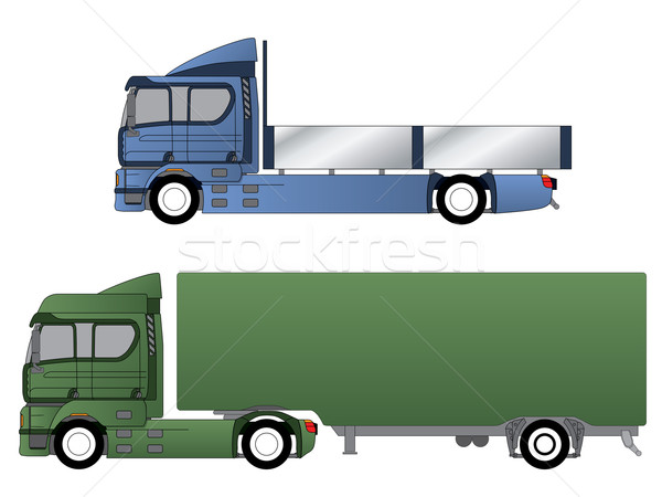Double cab trucks with various chassis  Stock photo © vipervxw