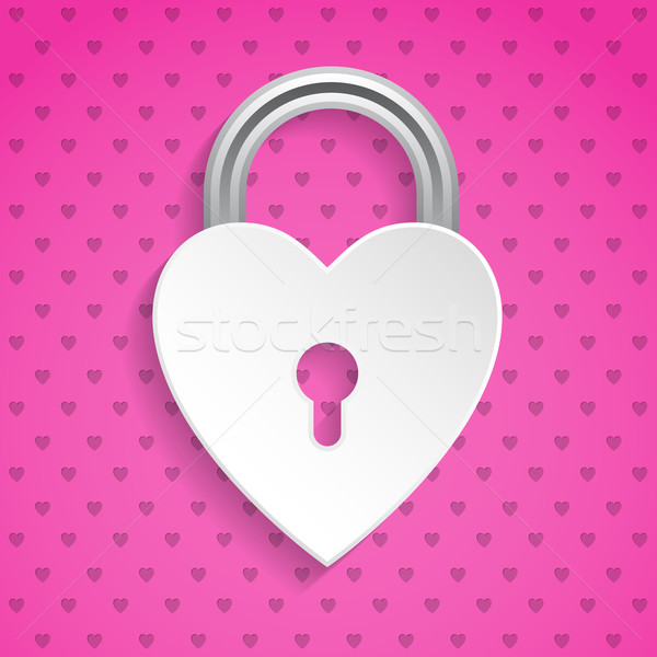 Cool valentine background with heart padlock Stock photo © vipervxw