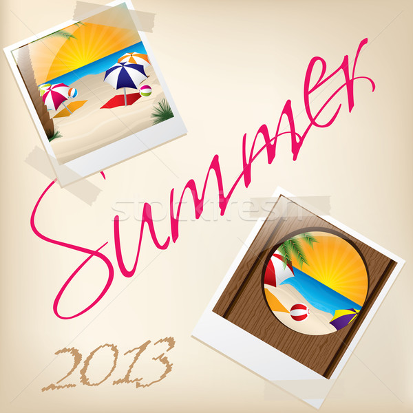 Cool summer wallpaper with pictures Stock photo © vipervxw