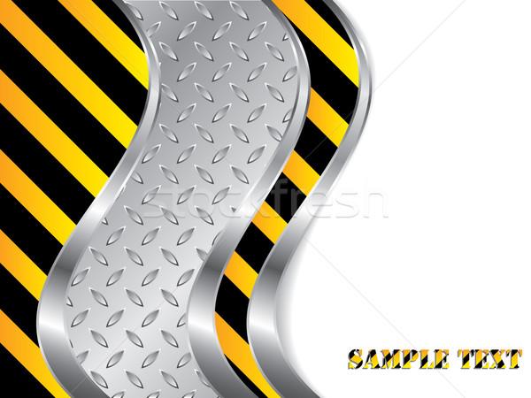 Métallique construction design acier vagues texture Photo stock © vipervxw