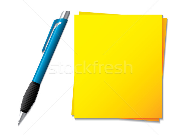 Sticky note with ballpen  Stock photo © vipervxw