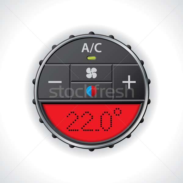 Airconditioning Rood display groot auto Stockfoto © vipervxw