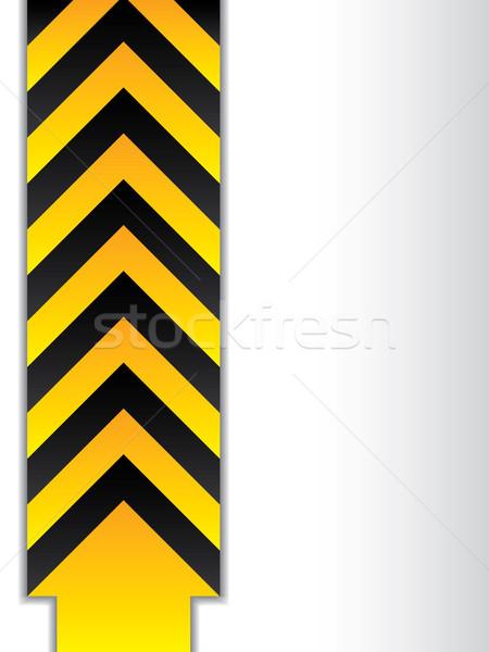 Arrowed danger sign  Stock photo © vipervxw