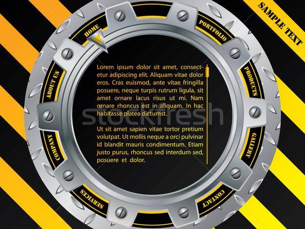 Cool construction web template with cogwheel Stock photo © vipervxw