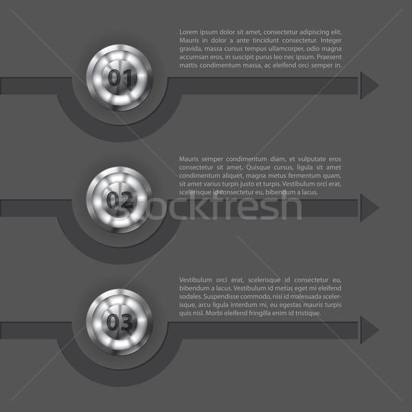 Cool technologie pijlen ontwerp tonen Stockfoto © vipervxw
