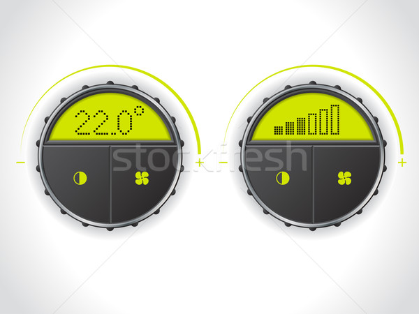 Numérique température fan contrôle vert LCD Photo stock © vipervxw