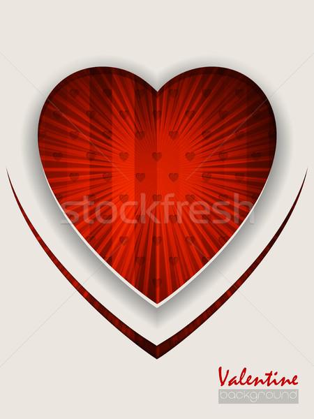 Valentine gün tebrik kırmızı tebrik kartı çizgili Stok fotoğraf © vipervxw