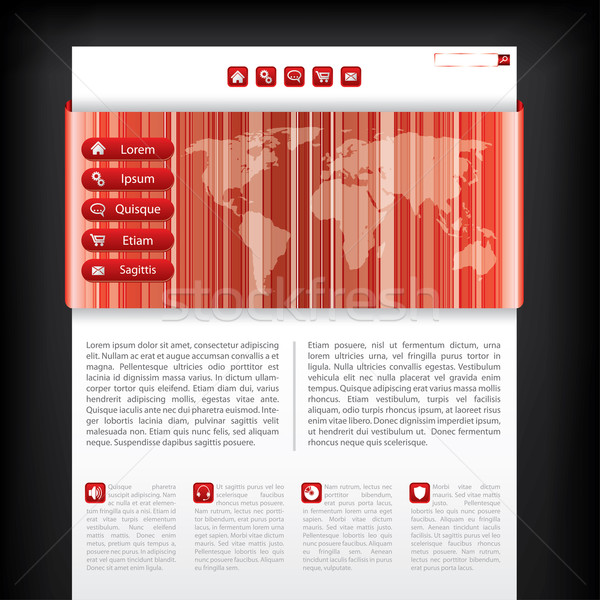 Stock photo: Website template with striped map design