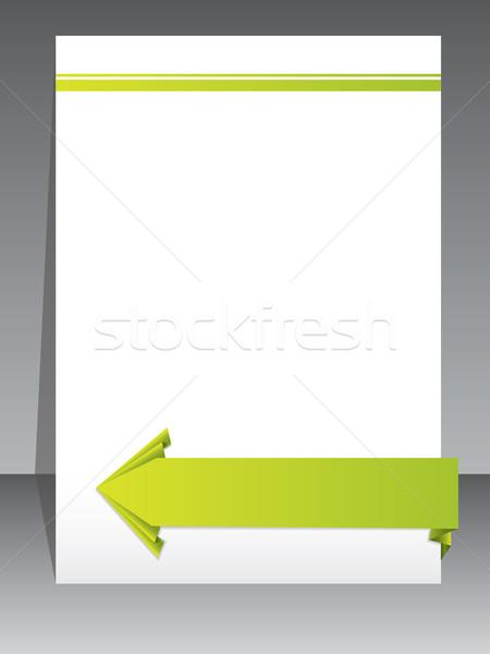 Stationary design with origami arrow Stock photo © vipervxw