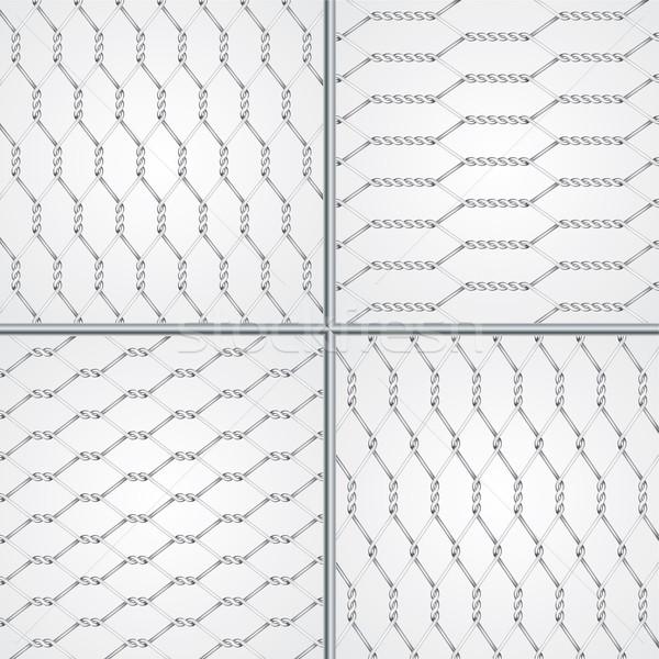 Various wire fence design set Stock photo © vipervxw