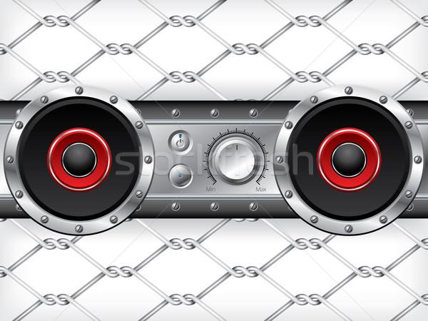 подземных аудио палуба дизайна красный ораторов Сток-фото © vipervxw
