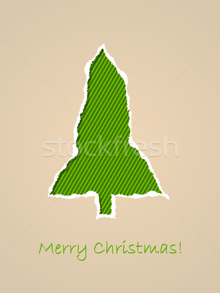 Christmas greeting card with ripped paper Stock photo © vipervxw