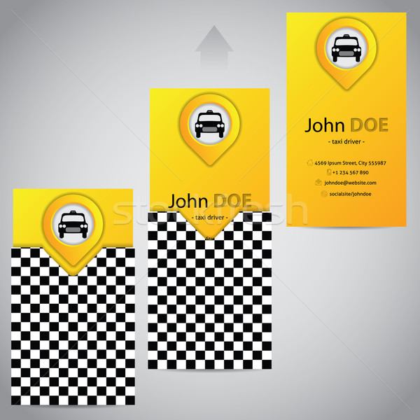 Two piece taxi business card with pointer Stock photo © vipervxw