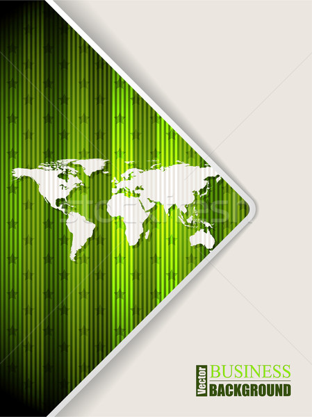 Abstract green brochure with world map Stock photo © vipervxw