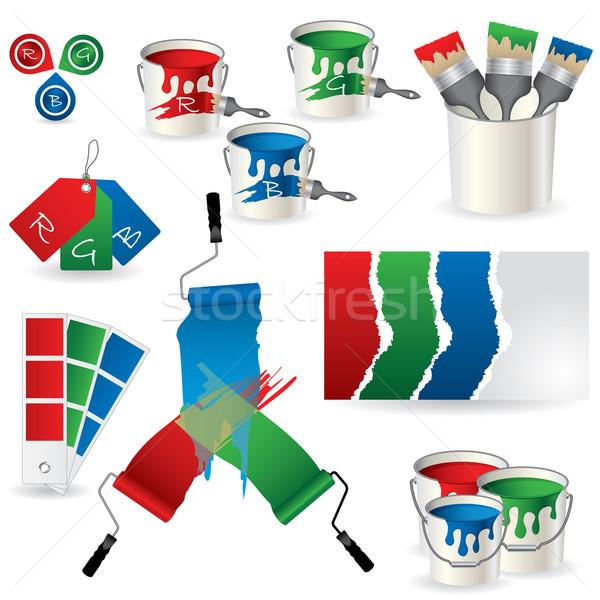 RGB coloring set  Stock photo © vipervxw